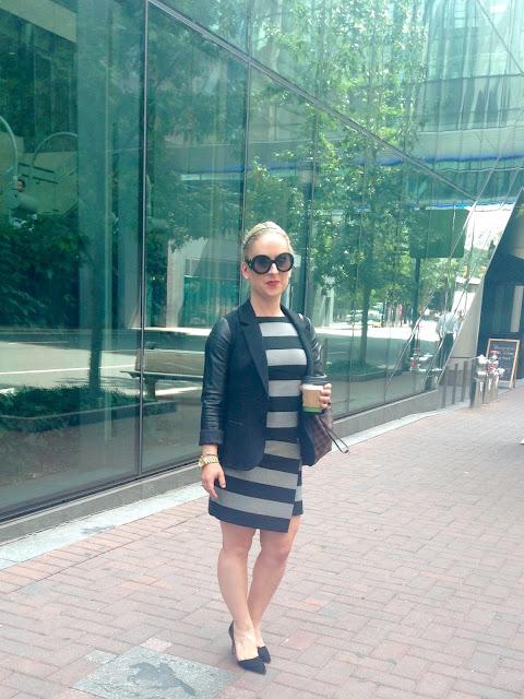 striped dress, banana republic dress, marissa webb