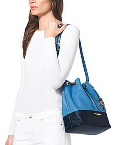 ca63a88c08b ... Suntan Black, Sun Luggage, Optic White Black. Pull together an  effortlessly cool look with the drawstring shoulder bag from MICHAEL  Michael Kors.