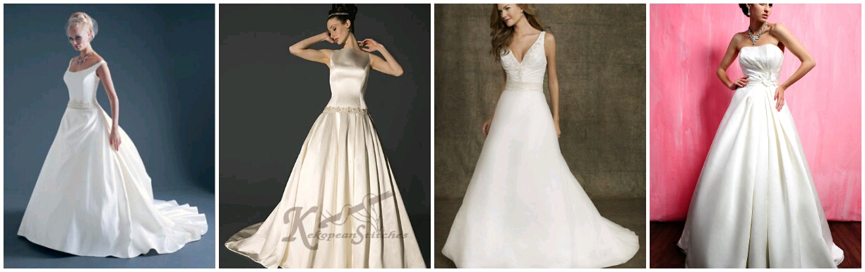 Eventalicious what wedding dress style is best for your for Wedding dress styles for big hips