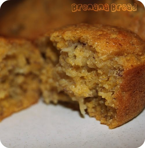 Brenana Bread: Banana Cornbread Muffins