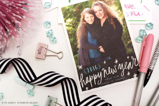 happy new year cards, minted personalized stationery, personalized cards