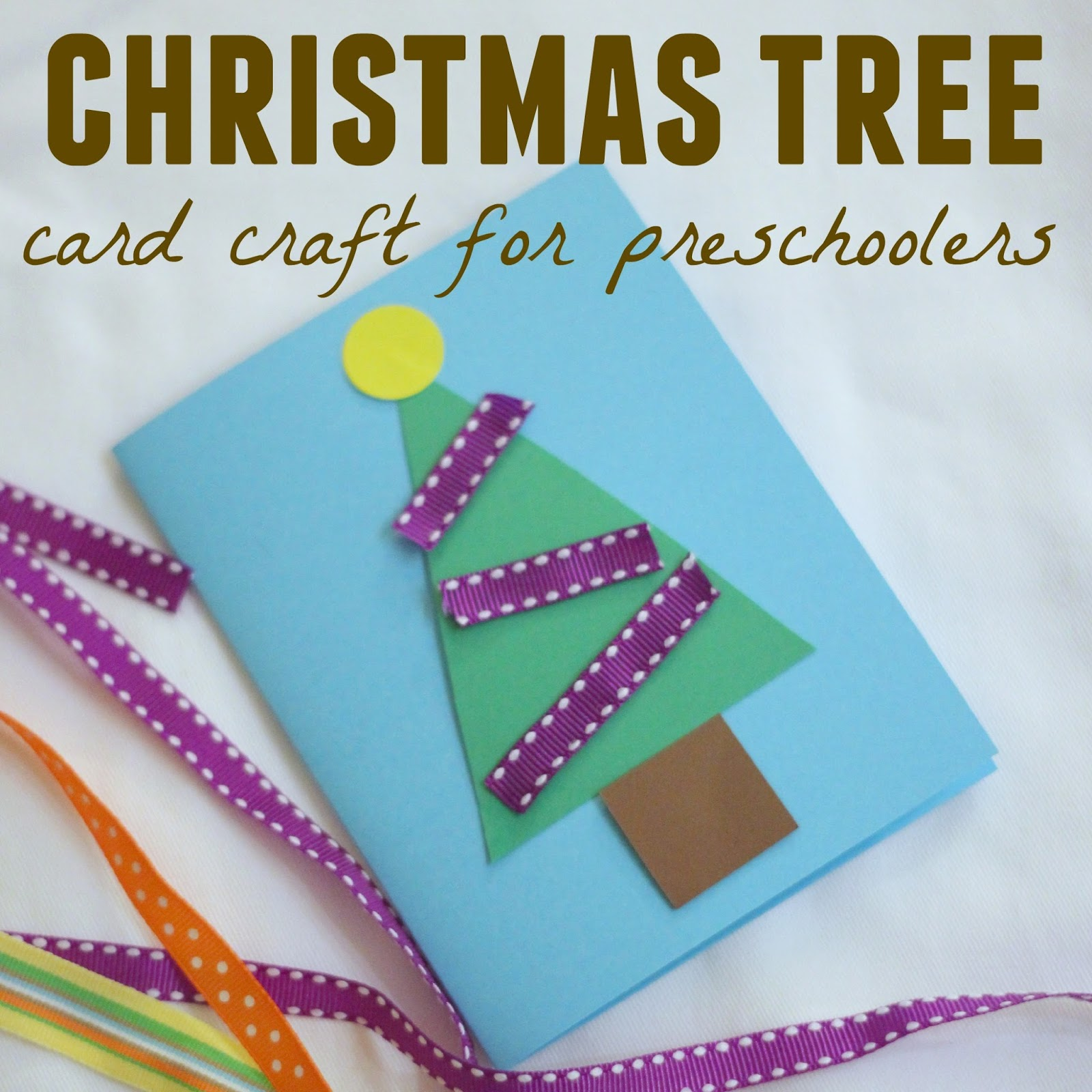Toddler approved christmas tree card craft for preschoolers for Christmas tree cards to make