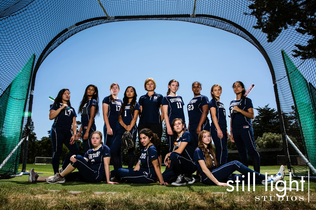Hillsborough Crystal Springs Uplands Softball Team Photo by Still Light Studios, School Sport and Senior Photography in Bay Area