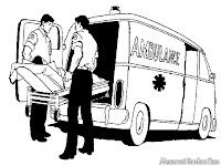 Petugas Medis Mobil Ambulance