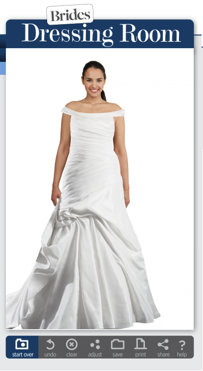 Rae affairs wedding planner try on wedding dresses online for Virtual try on wedding dress