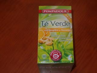 Té verde con Jengibre y Naranja. Pompadour