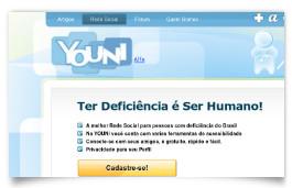youni - rede social pessoa com deficiência