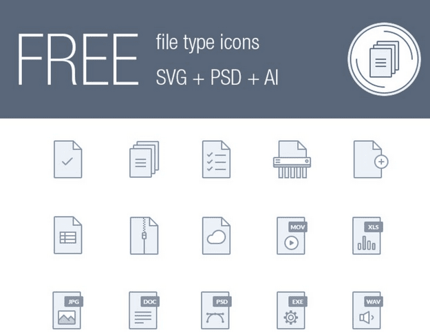 Free File Type Icons (AI, SVG, PSD)