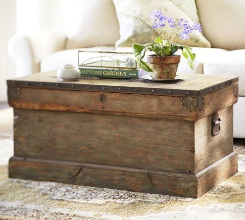 The Love Of Wood POTTERY BARN TRUNK Lookalike - Pottery barn trunk end table