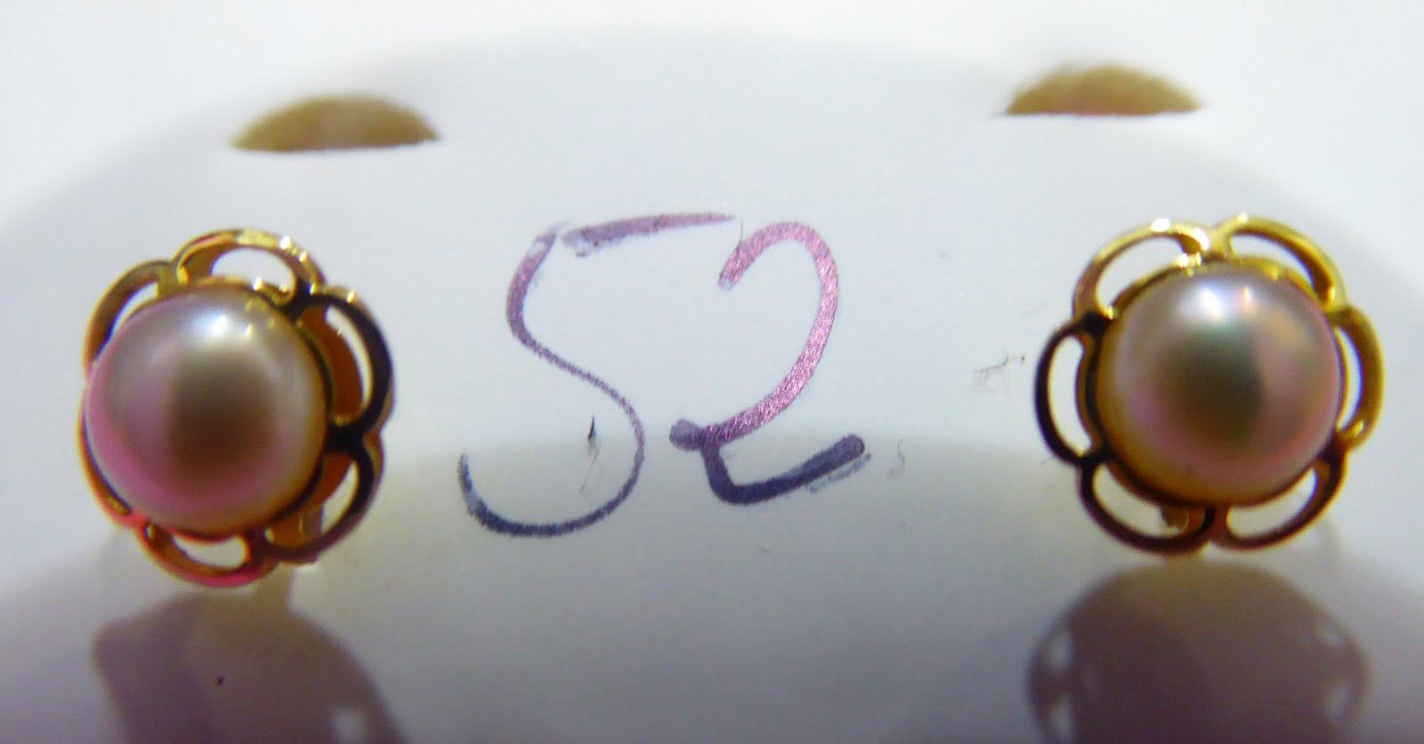 Pendientes de perla de Oro