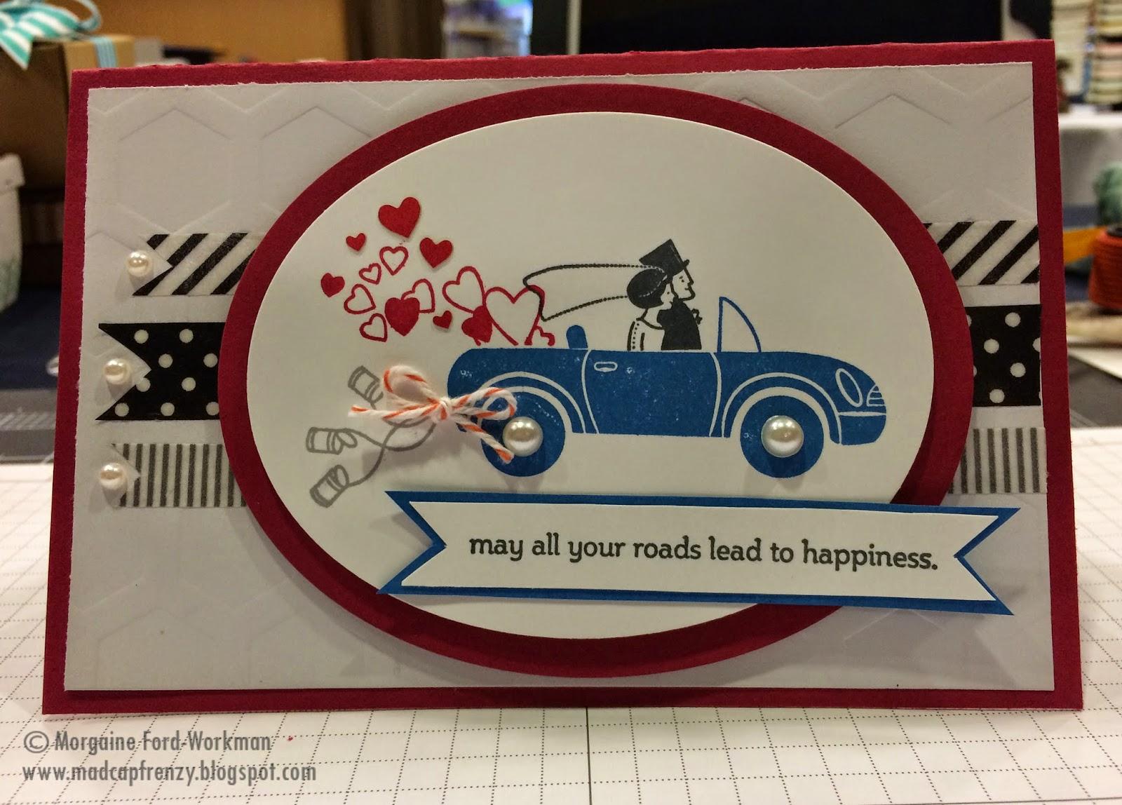 Madcap Frenzy's wedding card