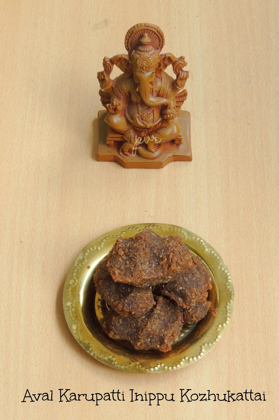 red rice palm jaggery sweet kozhukattai, sweet rice flakes dumplings