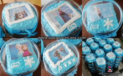 Mini Cake Frozen Souvenir Ulang Tahun Daerah Surabaya - Sidoarjo