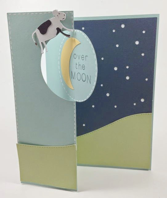Close To My Heart Artfully Sent Cricut cartridge Over the Moon card inside