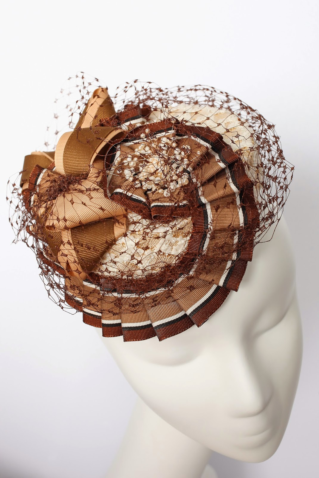 Chocolate Mousse Pillbox Hat
