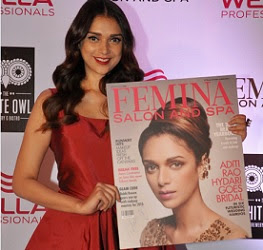 Aditi Rao Hydari launches Femina Salon & Spa Magazine Photos