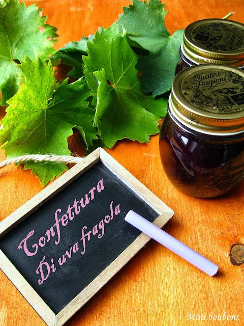 confettura di uva fragola • raisin jam