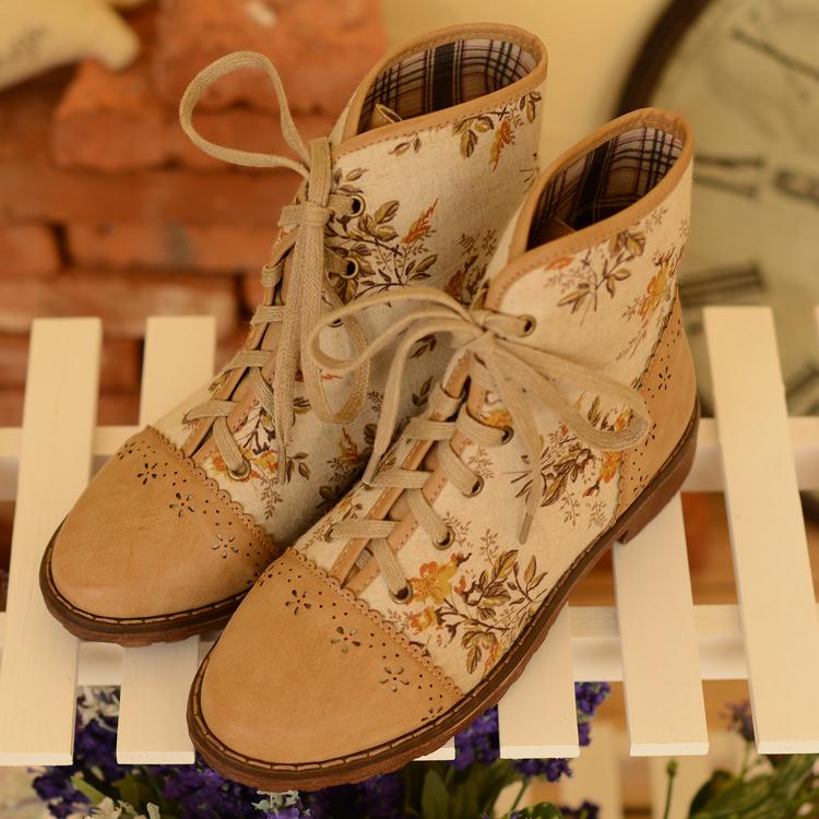 giay boot ong cao nhat ban in hoa anh dao sakura