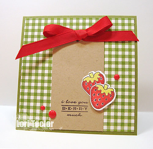 Love You Berry Much card-designed by Lori Tecler/Inking Aloud-stamps and dies from Clear and Simple Stamps