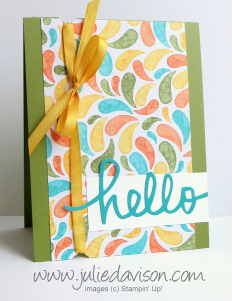 FMS182 All Shook Up + Birthday Bash Hello Card #stampinup www.juliedavison.com