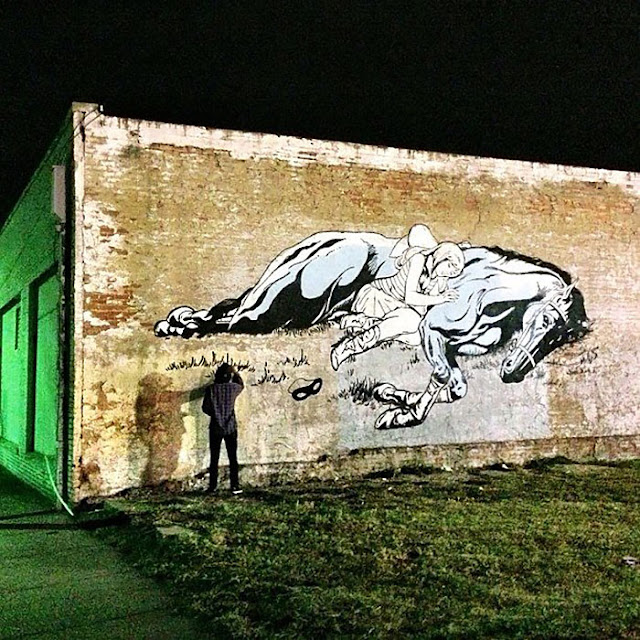 Street Art By American Duo Faile On The Streets Of Dallas, USA 2