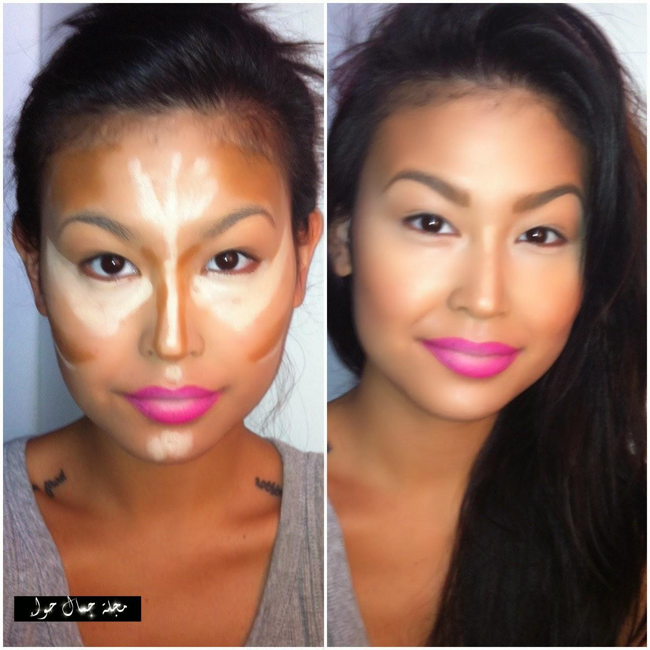 10 نصائح وحيل نحت وتحديد ملامح الوجه والمكياج