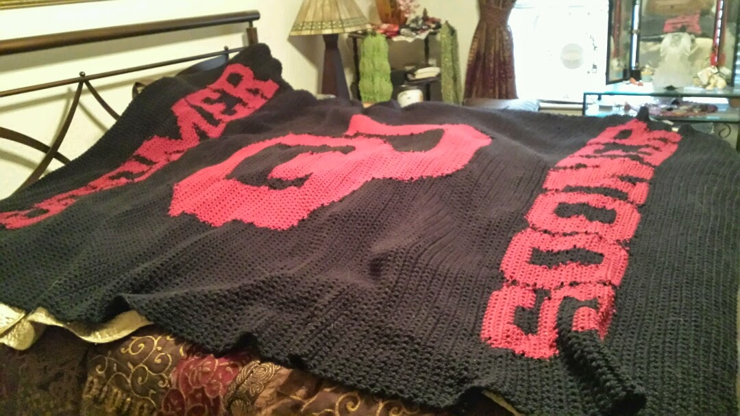 Crochet Adventures!: Boomer Sooner OU Afghan
