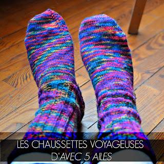 Les chaussettes voyageuses d'Avec 5 Ailes