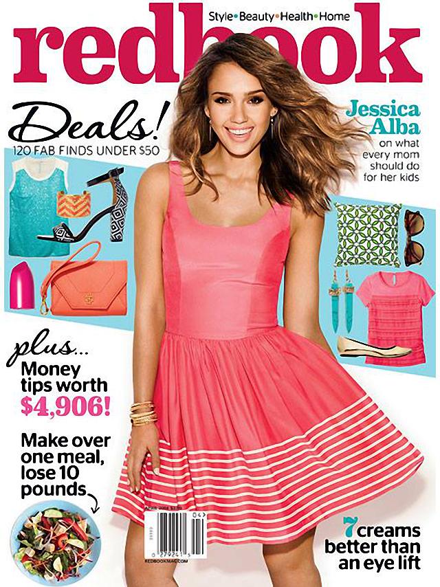 Jessica Alba portada de la revista Redbook abril 2014