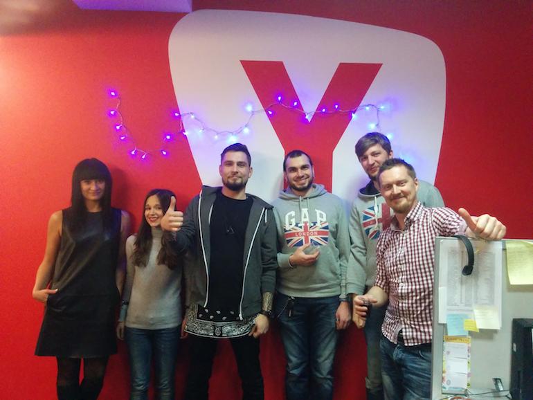 YouScan на новогодней вечеринке у наших партнёров, компании Yell