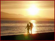 Nos sentaremos juntos frente al mar,y de tu mano podré caminar.