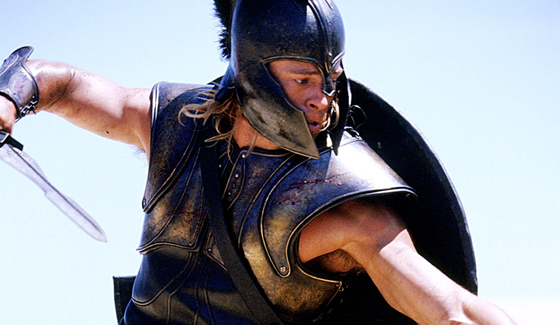 brad pitt troy. rad pitt as achilles in troy