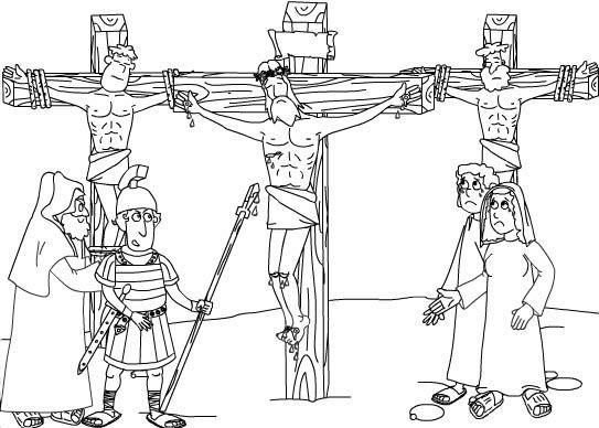 Dibujo para colorear Jesús crucificado