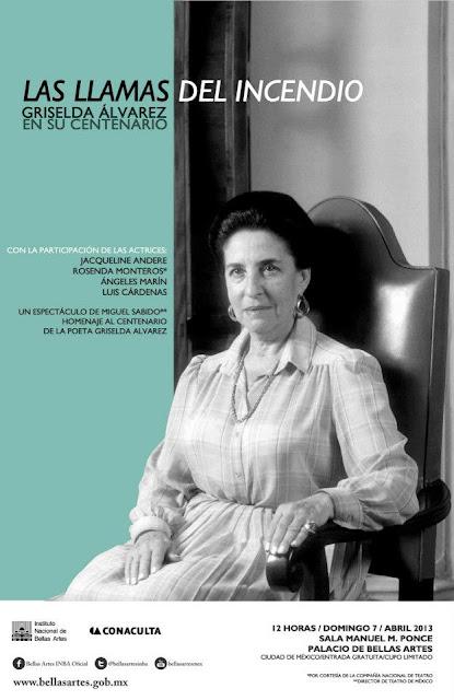 Centenario de la poeta Griselda Álvarez en el Palacio de Bellas Artes