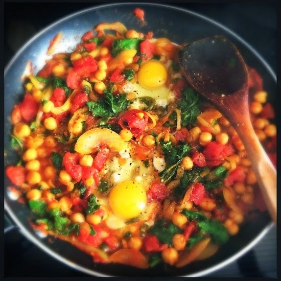 Meatless Monday: Tomatoes, greens and chickpeas