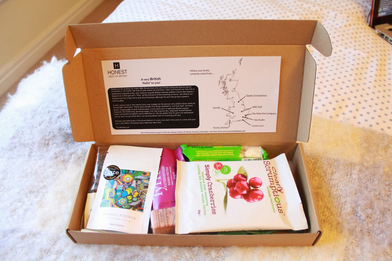 Our Honest Foods Snackorium Box