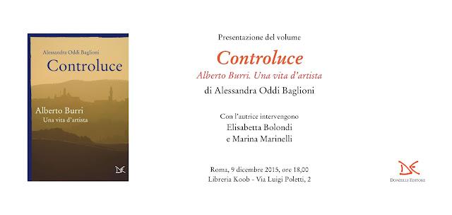 """Alberto Burri: Presentazione libro """"Controluce"""" a Roma"""