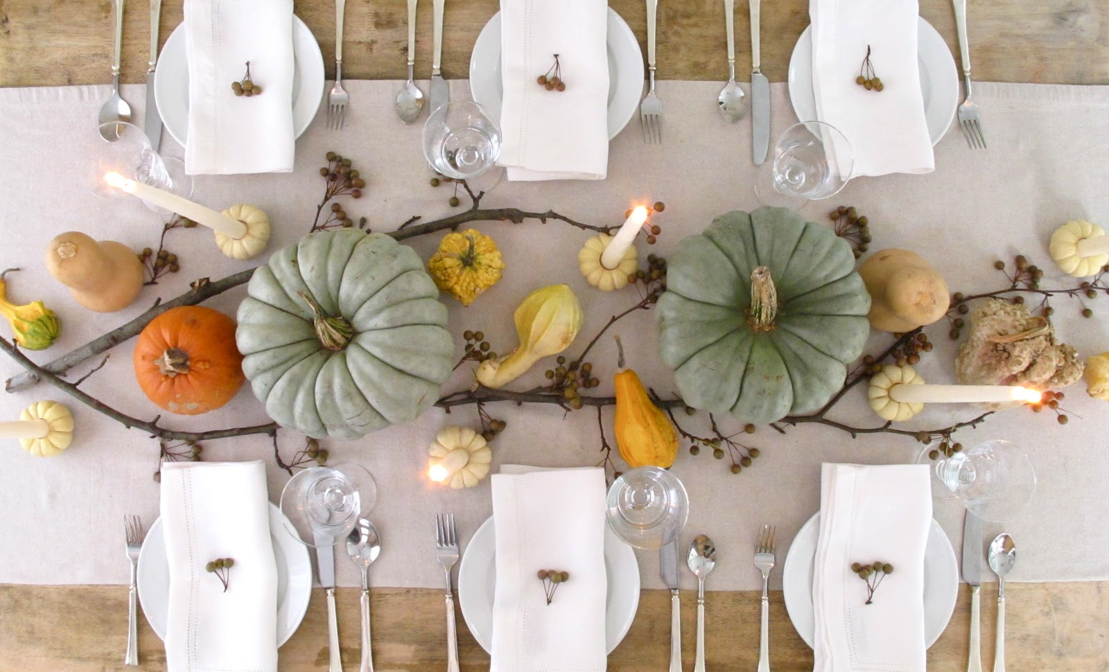 Jenny steffens hobick mini pumpkin candle holder diy for Fall table