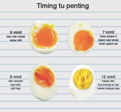 TIMING REBUSAN TELUR,TELUR REBUS, RESEPI TELUR, bahan membuat kerabu telur dadar, CARA MEREBUS TELUR