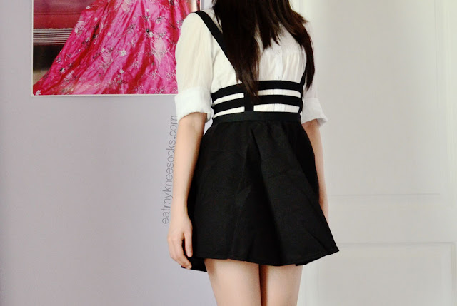 Dresslink's caged cutout suspender skirt is simple, chic, and stylish.