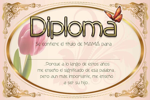 Maestra de Infantil: Diplomas para el día de la madre