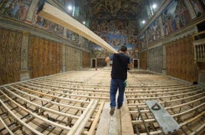 Sistine chapel platform conclave
