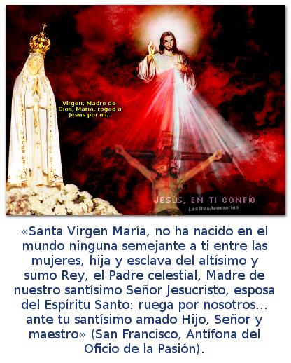 imajes de la divina misericordia con la virgen de fatima y oracion a la madre de dios