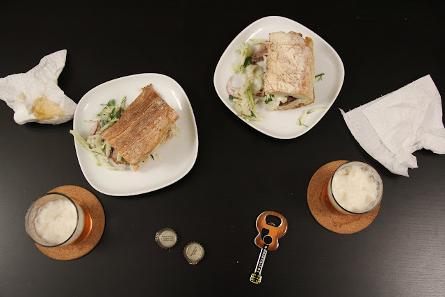 Roasted Pork Tenderloin Sandwiches with Apple Fennel Slaw