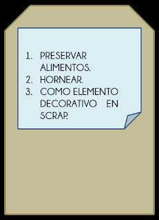 Tag con tres usos del papel de aluminio