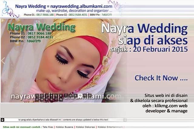 Nayra Wedding Ready to Access - Nayra Wedding Siap diakses sejak : 20 Februari 2015