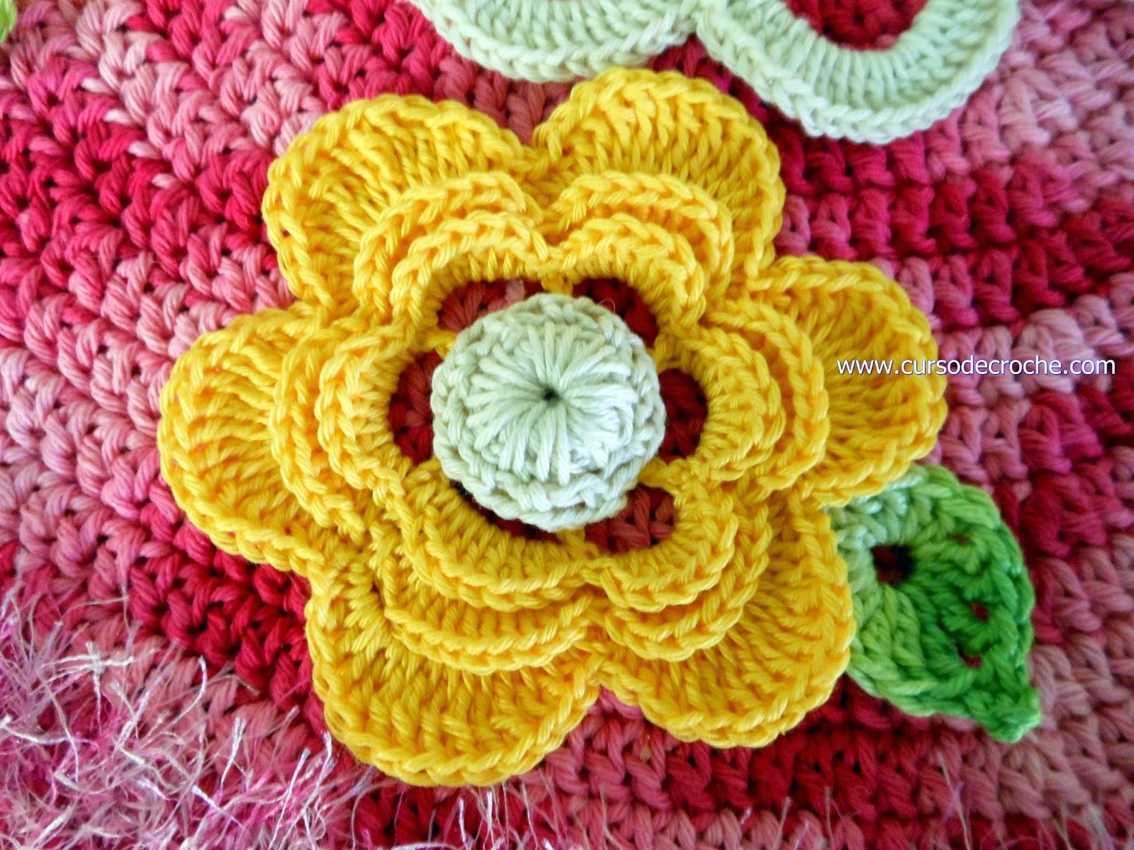 tapete em croche com flores com Edinir-Croche disponivel para venda na loja curso de croche