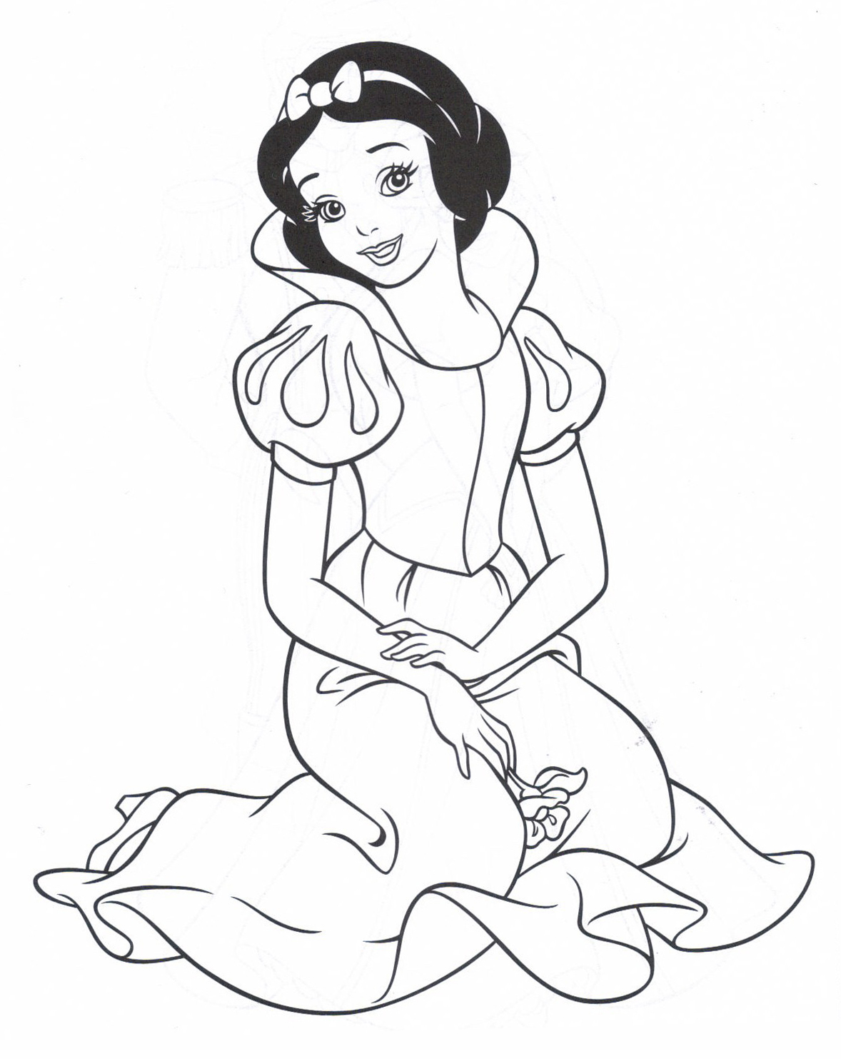 coloring pages of snow whitw - photo#20