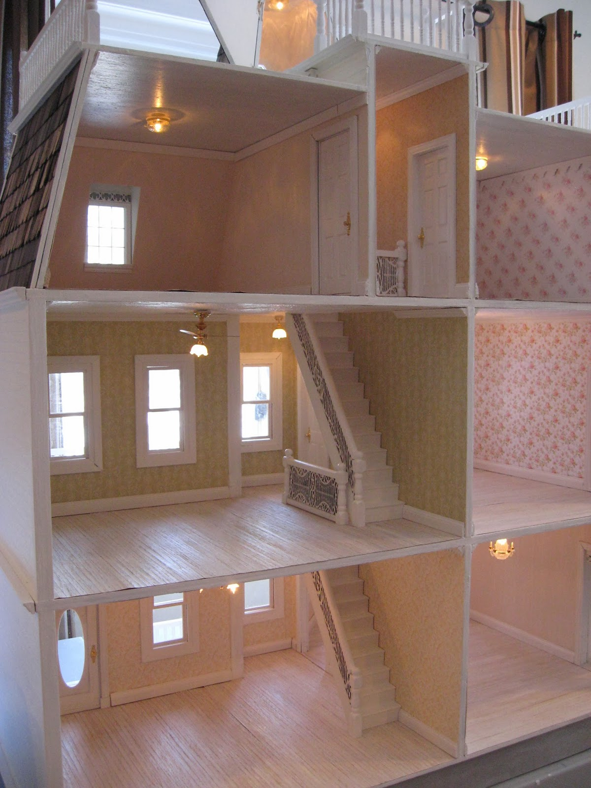 lighting for dollhouses. All Rooms Have 1-2 Ceiling Lights That Add So Much Warmth And Glow To The Rooms. Lighting For Dollhouses S