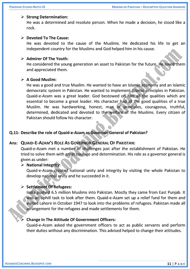making-of-pakistan-descriptive-question-answers-pakistan-studies-ix
